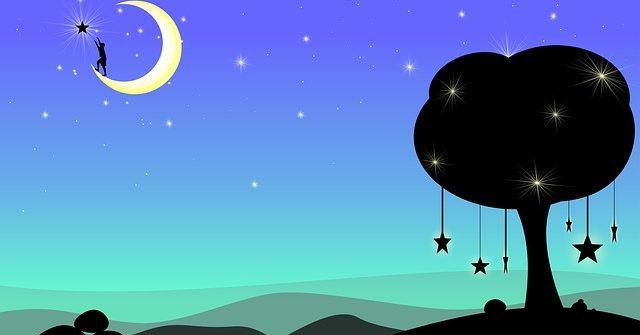 księżyc animacja fotografia
